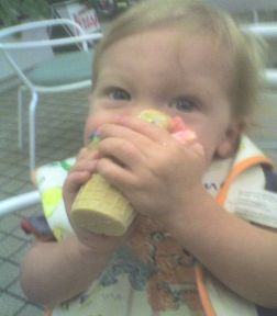 ashton eating ice cream