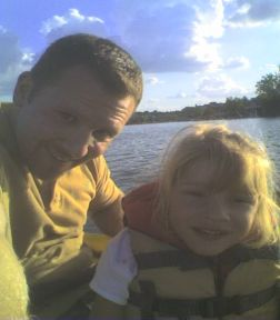 lexington and daddy kayaking